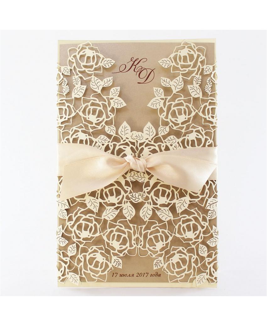 15a3c38e6bed2b Весільне запрошення W118 (колекція Filigran) Весільні запрошення ...